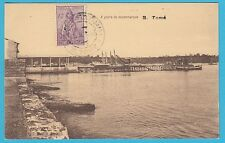 D.  Sao Tome  Hafen  -  Schiffe    Postkarte  1937
