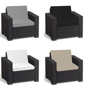 Cushion Pads for Keter Allibert California Rattan Garden Furniture Armchair 2 PC