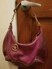 LOVCAT PARIS Purple Metallic Leather  Shoulder Hobo Bag