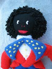 Vintage knitted Doll folk art
