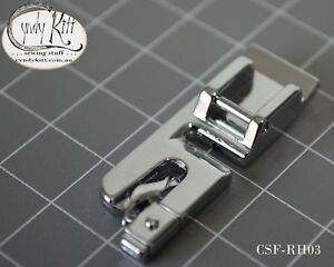 Clip-on domestic roll hemming foot