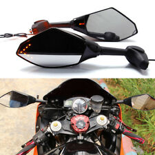SMOKE ARROW LED INTERGRATED TURN SIGNAL RACING BIKE MIRRORS FOR HONDA YAMAHA USA