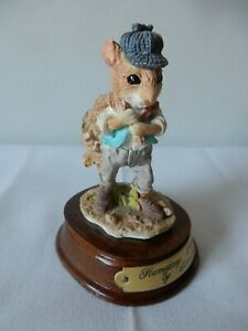 "Lovely Vintage Leonardo Humphrey Dormouse Figure Little Nook Village 4"" Exc"