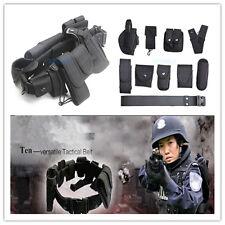 Black Tactical Nylon Police Law Enforcement Equitment Guard Duty Belt Durable