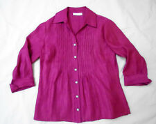 Coldwater Creek sz PS blouse (6-8) / 3/4 sleeve / rasberry color / rayon-poly