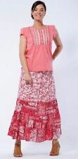 Mid-Calf Cotton Floral Skirts for Women