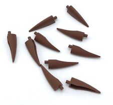 Lego 10 New Reddish Brown Barb / Claw / Horn Pieces Large Flexible