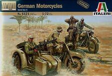 Italeri 6121 - German (WWII) Motorcycles          1:72 Plastic Figures/Wargaming