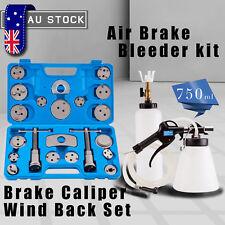 Universal 22pc Disc Brake Caliper Piston Rewind Tool Kit Set + Air Brake Bleeder