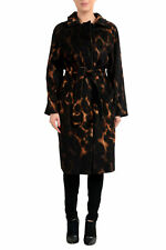 "Max Mara Atelier Women's ""KAISER"" Animal Print Camelhair Belted Coat US 10 IT 44"