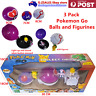 3 Pack Pokemon Go Balls press to open ball lights up with figurines Kid Toy Gift