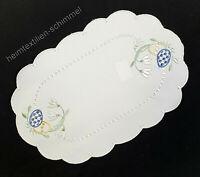 PLAUENER SPITZE ® Tischdeckchen OSTERN Tischdecke OSTEREIER Deckchen Tischdeko