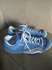 Piloti Prototipo Driving Shoes Blue Suede Size 8 Racing , see pics