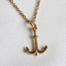 18K Gold Anchor Pendant Necklace Jewelry (id290)