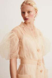 Size M Puff-sleeved tulle blazer Simone Rocha x H&M