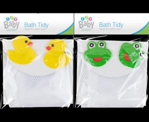 Kids Baby Bath Toy Tidy Bathroom Organiser Mesh Net Storage Holder duck or frog