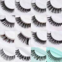 New 5 Pairs Handmade Natural Thick Long False Fake Eyelashes Eye Lashes Makeup