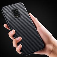 Carbon Fiber Slim Soft Case Cover For Xiaomi 11 Poco F3 M3 Redmi Note 10 Pro 9S
