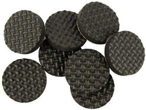 100stk 25mm Durchm Anti-Rutsch Griff Pad Gummi Füße Puffer Kissen Matte Halt