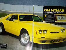 """1985 Mustang Drag Car Article """"GM NTMAR"""""""