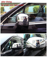 Chrome Rear view Mirror Cover Trim With Turn Light fit Subaru Forester 2014-2018