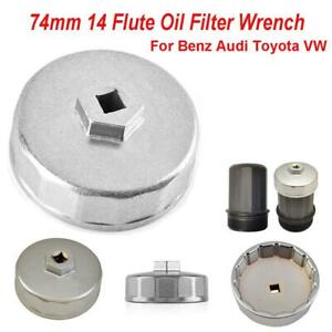 New 74mm 14 Flute Oil Filter Wrench Caps for Audi Mercedes Porsche Volkswagen VW