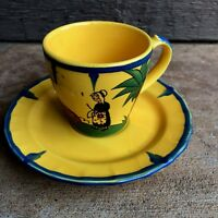 Flat Cup and Saucer Haldon Group Soleil MCMLXXX Retired Vintage 1980