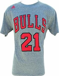 Chicago Bulls #21 Jimmy Butler Tri-Blend T-Shirt Gray Adidas NBA OFFICIAL