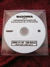 Madonna MEGA Rare JAPAN Confessions PROMO ONLY Acetate CD Disc WPCR-1200 Release