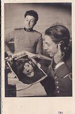 #CINE ILLUSTRATO anni'30- FOTO AGFA DI UFFICIALE CHE LEGGE LA RIVISTA