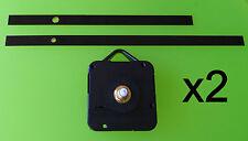 x2 mécanisme mecanisme mouvement horloge pendule quartz aiguilles 13/18cm DIY