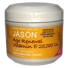 Jason Age Renewal Organic VITAMIN E 25,000 IU Moisturizing Creme 113g 25000