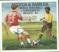 Antigua 1986 - World Cup Soccer Championships Mexico 86 - Sc 919 MNH