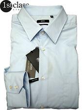 Hugo Boss camisa Enzalto alto talla 53 manga larga azul 20 3/4