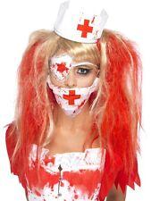 Adult Bloody Nurse Kit Fancy Dress Costume Halloween Ladies Womens Female BN