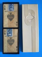 Vintage Cruver Washable Plastic Playing Cards in Plastic Storage Box ~ USA