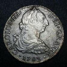 1783☆ FF☆ Milled Bust 8 Reales Cluster Clump Shipwreck Effect Coin Auction N/R!