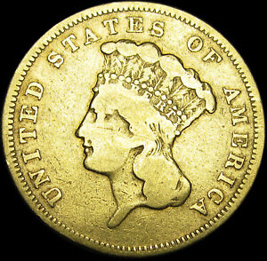 1856-S $3 Three Dollars Princess ---- Type coins Super Rare GOLD ----  #M433