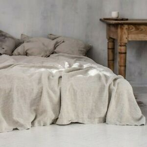 Pure Linen Flax Bed Sheet Bedsheet French Organic Natural Bedding