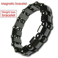 Men Black Hematite Magnetic Healing Therapy Bead Bracelet Bangle Fashion new