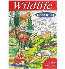 WILDLIFE MIND RELAXING COLOURING BOOK BOOKS Adult Stress Relief Colour Therapy