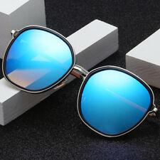 LE Unisex Korean Big Round Sunglasses Mirror Coating UV400 Sun Glasses Top Brand