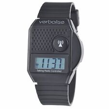 Verbalise Medication Reminder Top Button Digital Atomic Talking Watch Black
