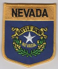 Nevada State Shield Patch Embroidered Iron On Applique