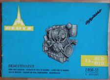 Deutz Ersatzteilliste F 3 L 811 D , 812 D Motor
