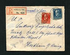 Bayern - Einschreiben von 1917 nach Mainz    (J-K4)