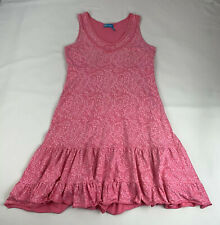 Fresh Produce Women's Size XS Dress Pink Vines V-Neck Sleeveless Made in USA