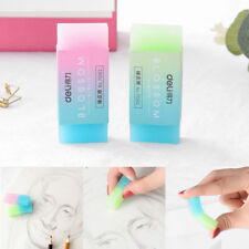 Soft Durable Cube Cute Colored Pencil Rubber Erasers Office Stationery Kids Toys