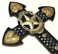 Dallas Police Dept Officer Cross LE Badge 14x8 3/4 inch Wall Hanging New