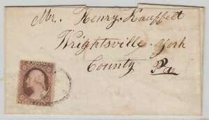 B1449 : US #26 Sur 1858 Littletown, Pa Ovale Housse
